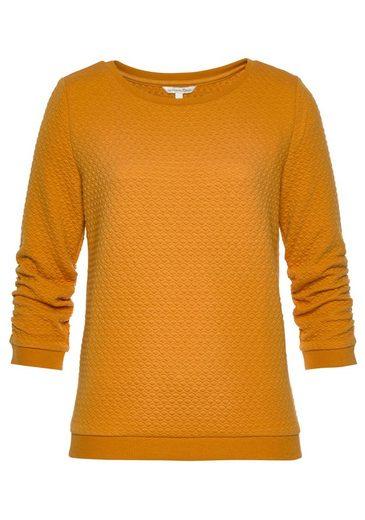 TOM TAILOR Denim Sweatshirt mit kleiner Wabenstruktur