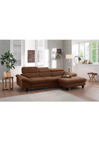 HOME AFFAIRE Kampinė sofa »Pilot« su Kopfteilverste...