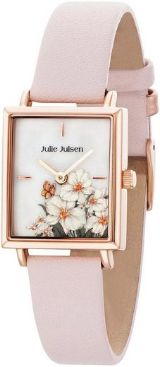Julie Julsen Quarzuhr »Square Daisy Rosé Light Pink, JJW102RGL-2«