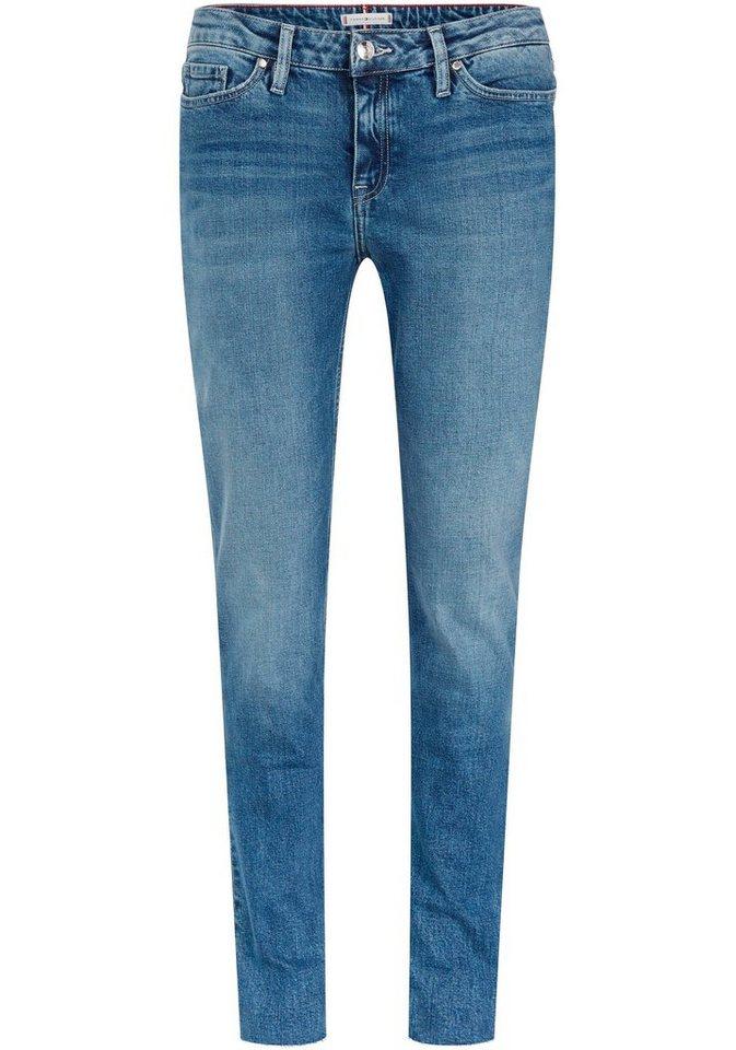 23886b976254 TOMMY HILFIGER 5-Pocket-Jeans »ROME STRAIGHT ANKLE« mit offener Kante am  Saum online kaufen | OTTO
