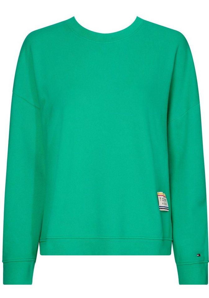 tommy hilfiger sweatshirt bo mit marken aufn her am linken saum online kaufen otto. Black Bedroom Furniture Sets. Home Design Ideas