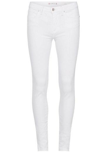 TOMMY HILFIGER 5-Pocket-Jeans »COMO SKINNY RW C CLR« in ungewaschener Optik