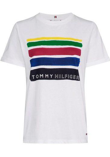 TOMMY HILFIGER Print-Shirt »BROOKE« mit Statement-Druck vorne