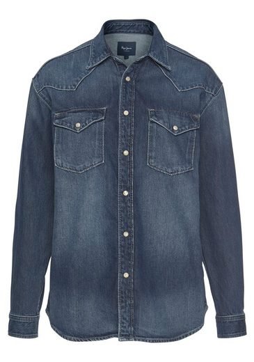 Pepe Jeans Jeansbluse »KISS« in cooler Oversized-Form aus Retro-Denim