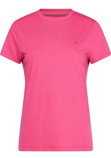 TOMMY HILFIGER T-Shirt »TESSA« mit kleinem Marken-Flaggen-Detail
