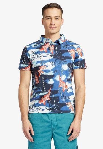 khujo Poloshirt »RUDI« aus weichen Jersey mit Allover-Print