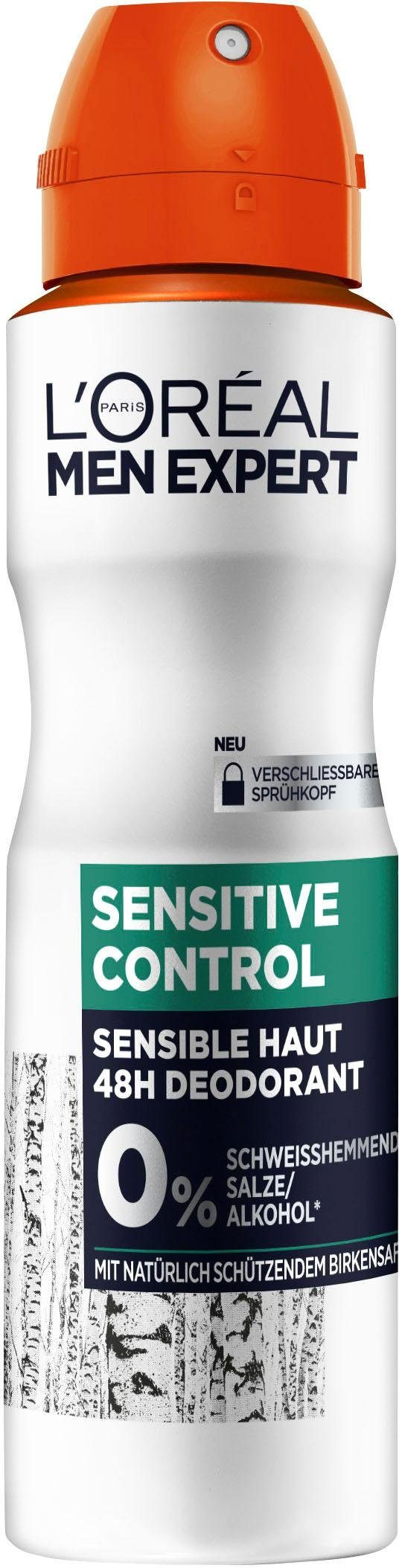L'ORÉAL PARIS MEN EXPERT Deo-Spray »Sensitive Control«, mit Birkensaft