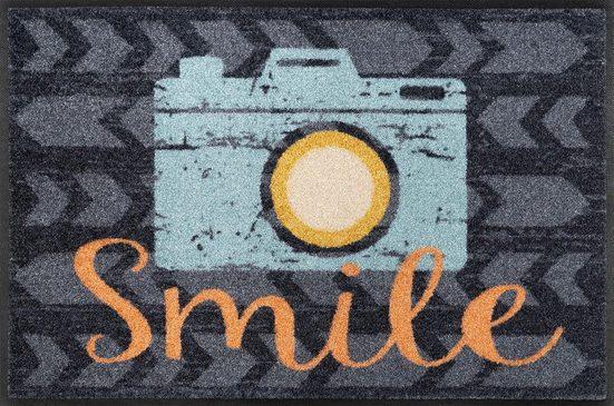 Fußmatte »Smile«, wash+dry by Kleen-Tex, rechteckig, Höhe 7 mm, In- und Outdoor geeignet, waschbar