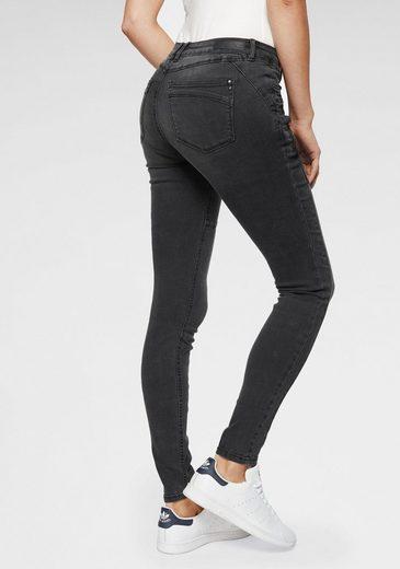 TOM TAILOR Denim Skinny-fit-Jeans in stylischer Biker-Form