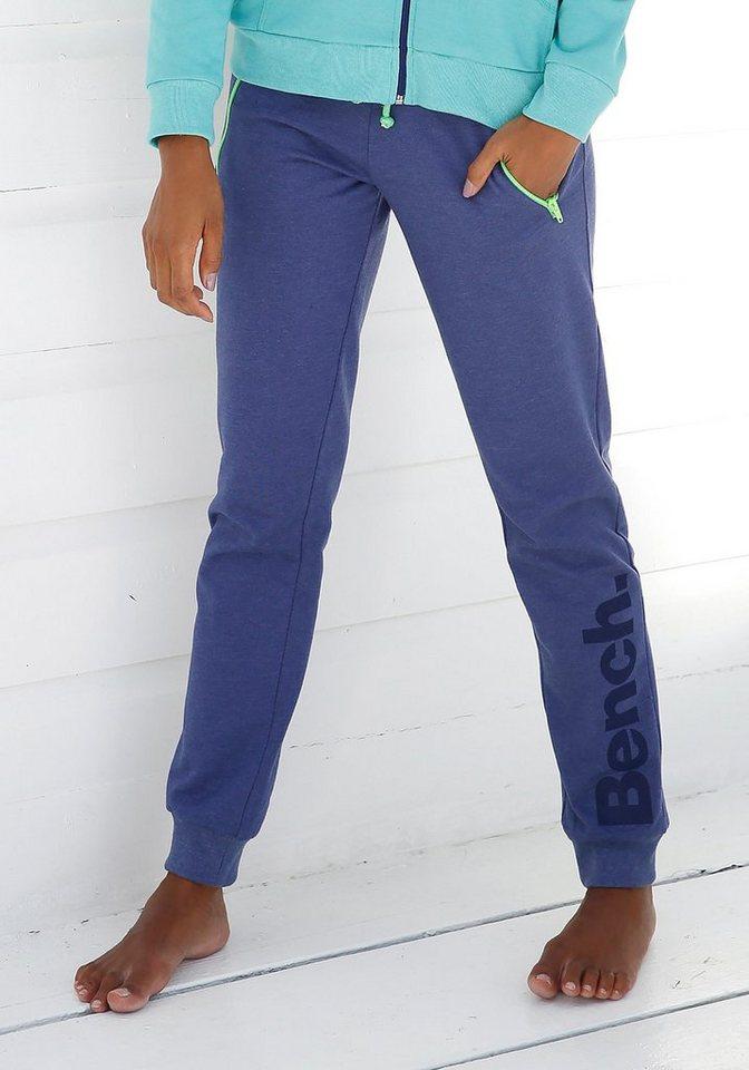 Bench. Relaxhose mit kontrastfarbenen Details   Bekleidung > Homewear > Relaxhosen   Blau   Bench.