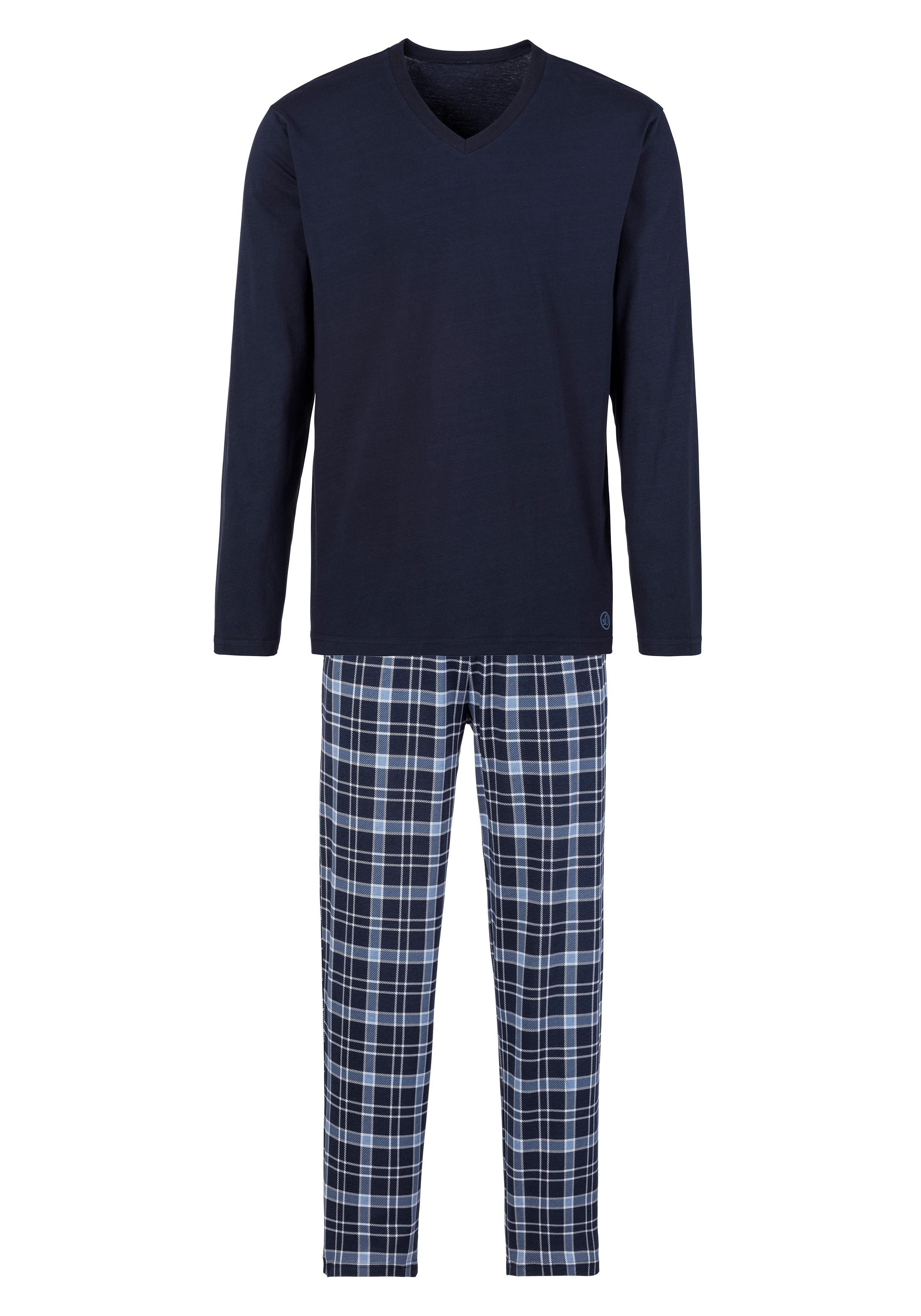 s.Oliver Bodywear Pyjama, mit Karo Hose
