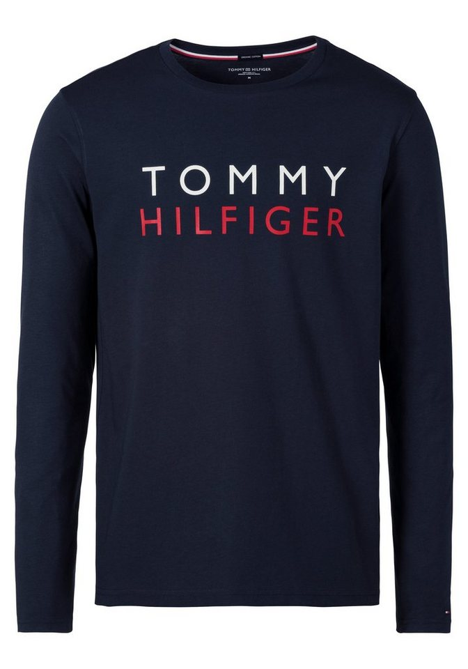 tommy hilfiger langarmshirt mit gro em branding auf der brust online kaufen otto. Black Bedroom Furniture Sets. Home Design Ideas