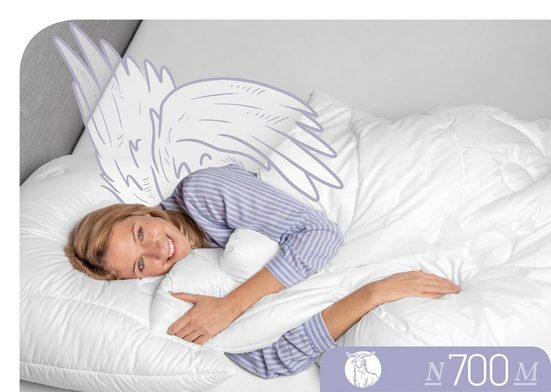 Naturfaserbettdecke, »N700«, Schlafstil, leicht, (1-tlg)