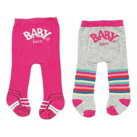Zapf Creation® BABY born® Strumpfhosen gestreift 43 cm (2er Pack), Puppenkl