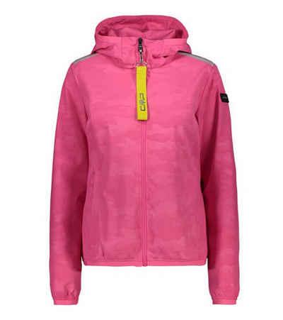 CAMPAGNOLO Kapuzensweatjacke »Campagnolo Strecht Hood-Jacke wasserabweisende Damen Regen-Jacke im stylischen Camouflage-Look Freizeit-Jacke Pink«