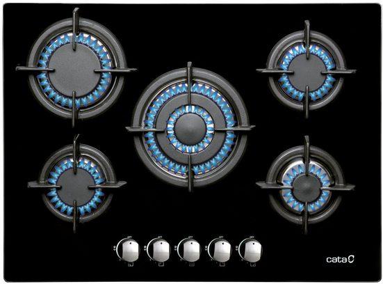 Cata Gas-Kochfeld L 705 CI Black