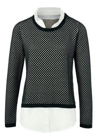 HEINE TIMELESS пуловер 2 в 1 с Struktur
