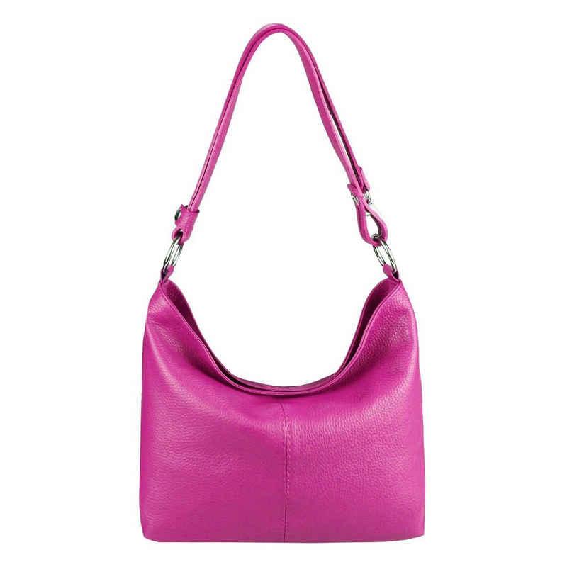 ITALYSHOP24 Shopper »Made in Italy Damen Leder Tasche Schultertasche«, als Handtasche, Umhängetasche, CrossOver tragbar
