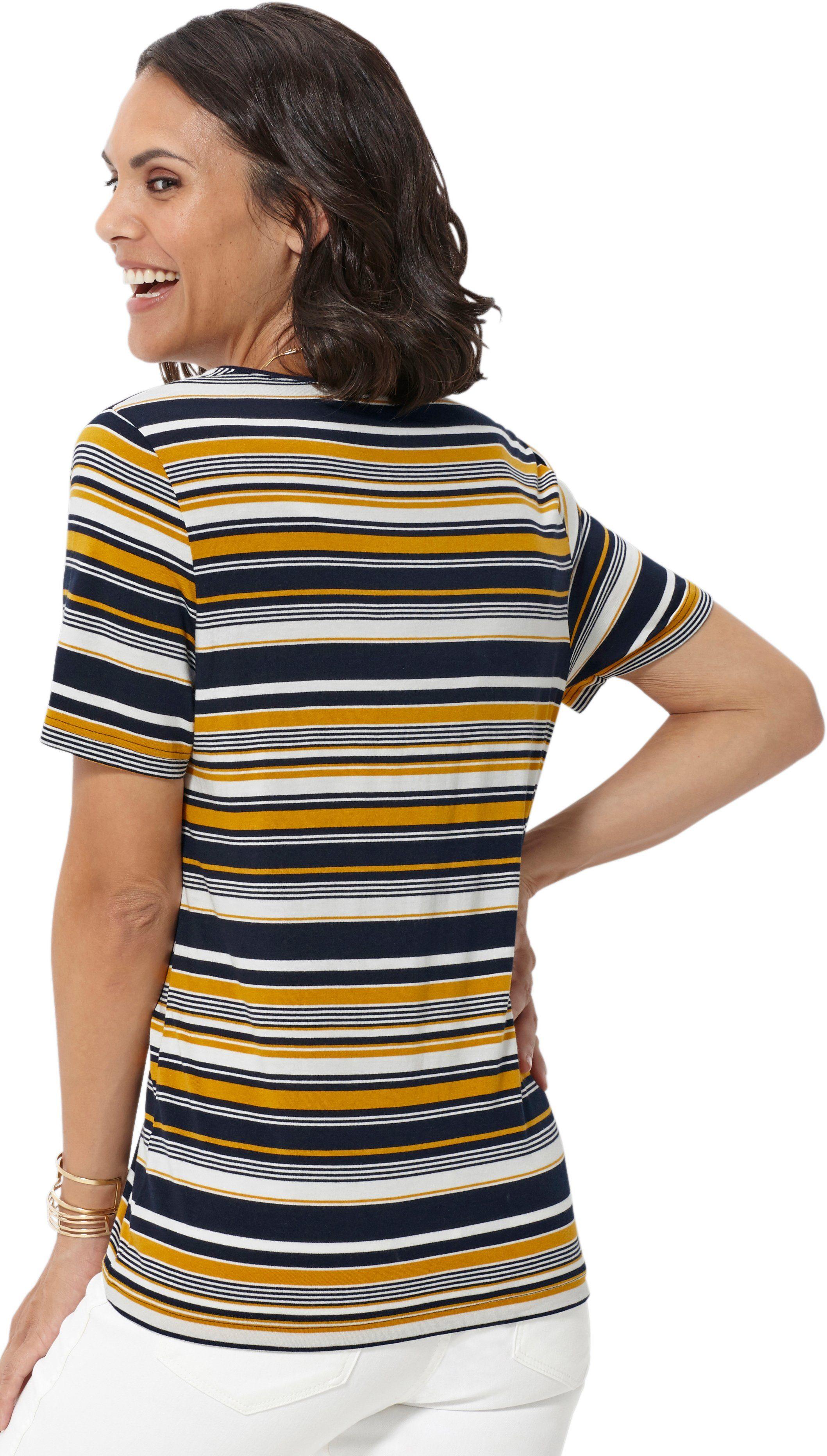 Casual Kaufen Mit Breiten Streifen Looks Shirt LAR53j4
