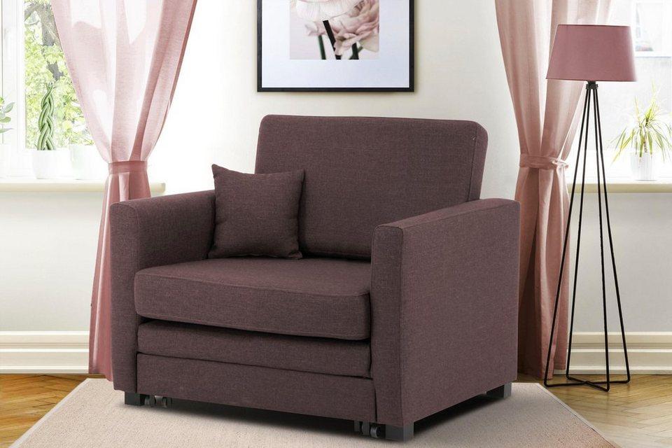 home affaire sessel mexico mit ausziehbarer. Black Bedroom Furniture Sets. Home Design Ideas