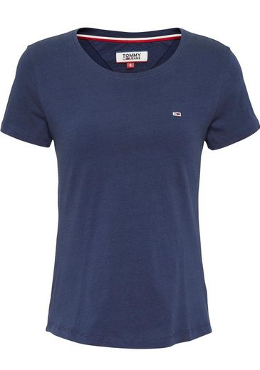 TOMMY JEANS T-Shirt »TJW SOFT JERSEY TEE« mit Tommy Jeans Logo-Flag