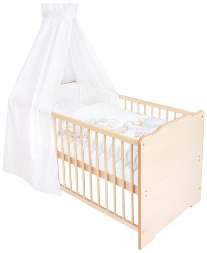Zöllner Komplettbett »Hamphreys Bedtime«, 7-tlg., Babybett+ Matratze+ Himmelstange+ Himmel+ Nestchen+ Bettwäsche