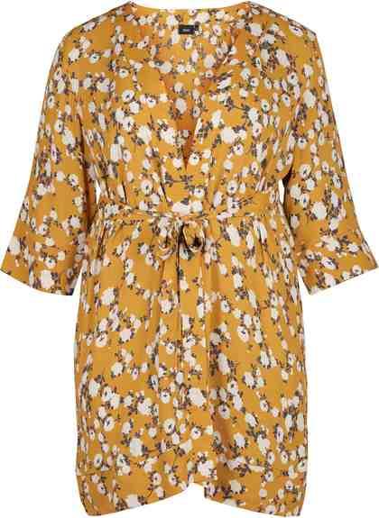Zizzi Cardigan Damen Kimono Cardigan 3/4 Arm Sommer Cover Up Große Größen