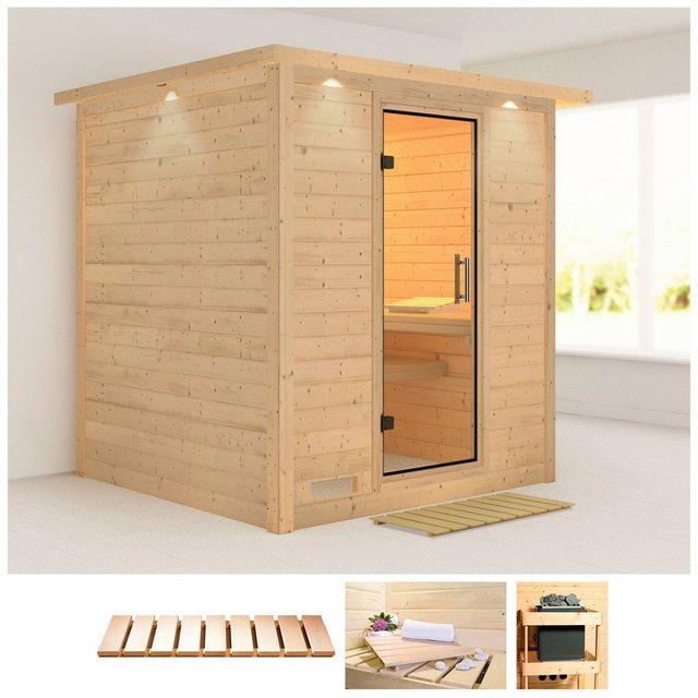 Saunen und Zubehör - KARIBU Sauna »Mojave«, 224x210x206 cm, ohne Ofen, Dachkranz  - Onlineshop OTTO