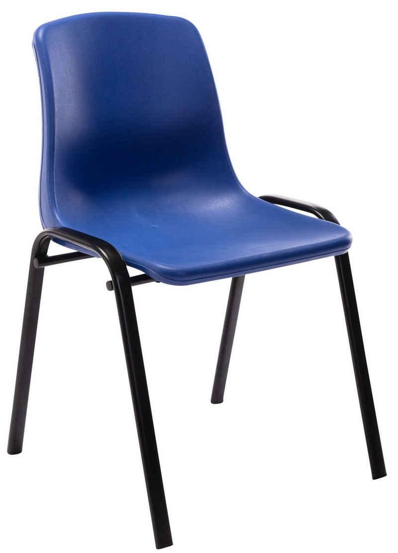 CLP Stapelstuhl »Nowra Kunststoff«, mit Rückenlehne und Metallgestell