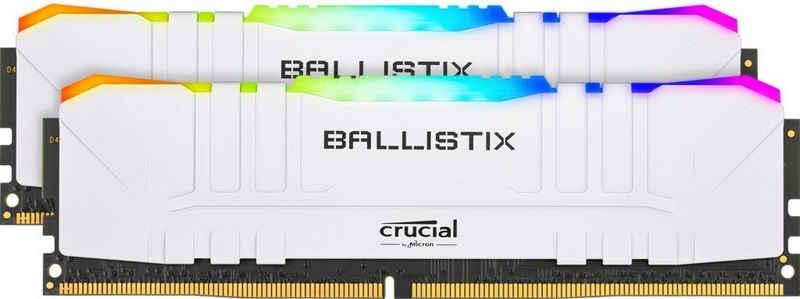 Crucial »Ballistix RGB 32GB Kit (2 x 16GB) DDR4-3200 Desktop Gaming RAM (Wei)« PC-Arbeitsspeicher