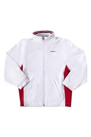 Head Softshelljacke »HEAD Softshell-Jacke coole Kinder Sport-Jacke Club Hartley Junior All Season Jacket Sport-Jacke Weiß/Rot«