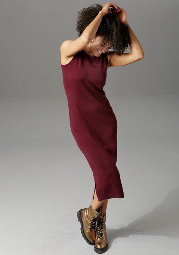 Aniston CASUAL Strickkleid »mit Pullover« (2-tlg) mit Seitenschlitzen