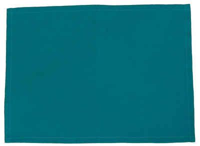 Platzset, »Farbenspiel«, beties, Tischset ca. 35x45 cm in interessanter Größen- und Farbauswahl 100% Baumwolle für eine fröhlich Stimmung Uni Farbe (Petrol)