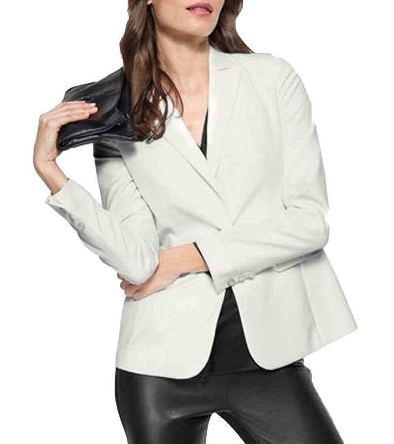 GUIDO MARIA KRETSCHMER Kurzblazer »GUIDO MARIA KRETSCHMER Blazer kurze Damen Freizeit-Jacke Business-Blazer mit Reverskragen Weiß«