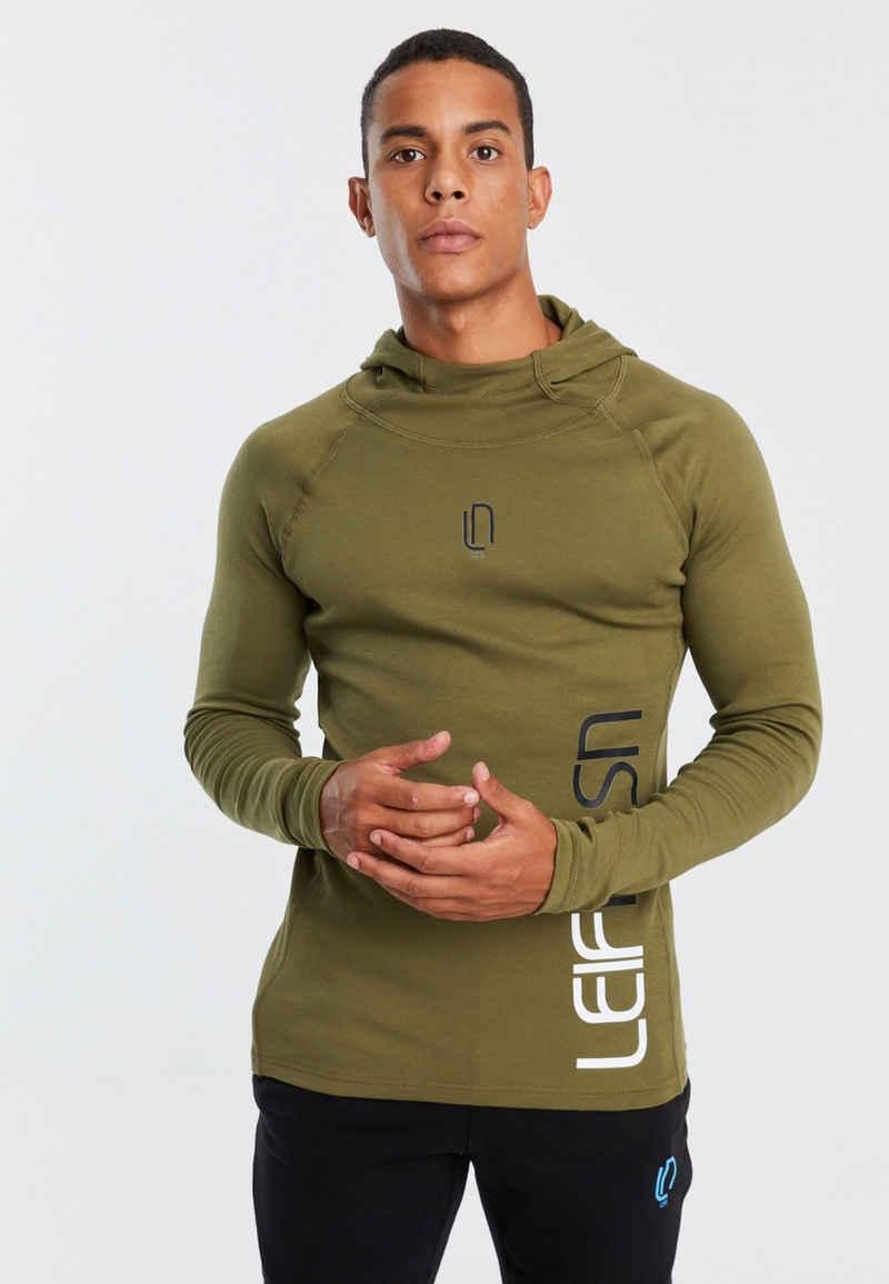 Leif Nelson Trainingspullover »Herren Gym-Sweatshirt Kapuze LN-8287«