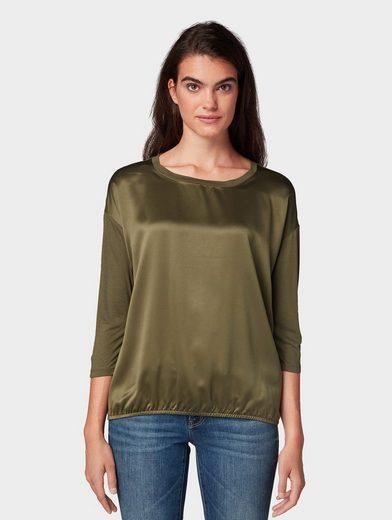 TOM TAILOR 3/4-Arm-Shirt »3/4 Arm Shirt mit elastischem Saum«