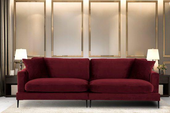 Leonique Big-Sofa »Cozy«, mit losen Kissen und Metallbeinen
