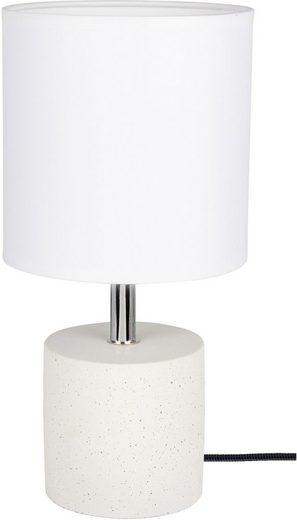 SPOT Light Tischleuchte »STRONG«, Echtes Beton - handgefertigt, Naturprodukt - Nachhaltig, Lampenschirm aus Stoff, Made in Europe