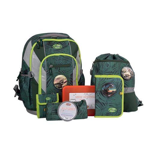 SCHOOL-MOOD® Schulrucksack »Loop Air Daniel Schulrucksack 7er Set«, Schultasche Schulranzen mit Federmappe und Zubehör zur Einschulung Grundschule