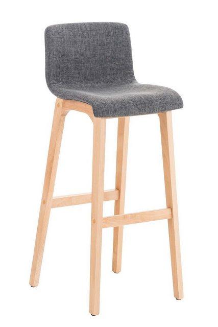 Sessel und Hocker - CLP Barhocker »Hoover Stoff«, Buchenholzgestell mit Fußablage  - Onlineshop OTTO