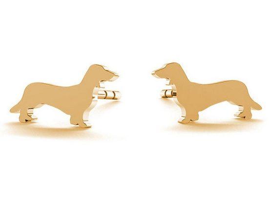 Gemshine Paar Ohrstecker »DACHSHUND, DACKEL«, Schmuck für Tierfans Made in Spain