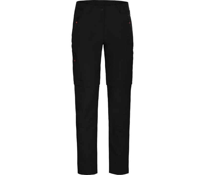 Bergson Zip-off-Hose »VIDAA COMFORT Zipp-Off« Damen Wanderhose, leicht, strapazierfähig, Normalgrößen, schwarz