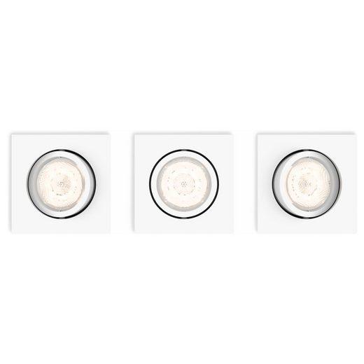 Philips LED Einbauleuchte »myLiving LED Einbaustrahler, warmGlow, eckig,«, Einbaustrahler, Einbauleuchte
