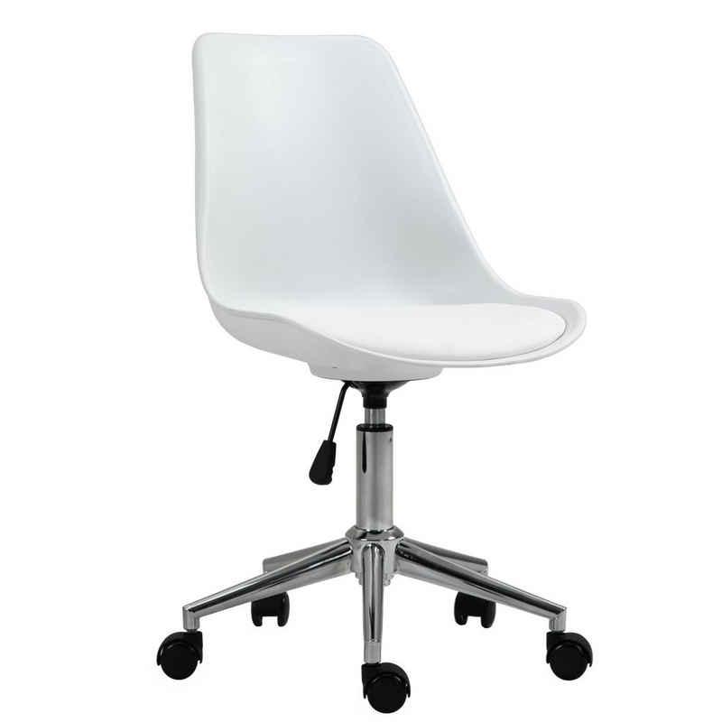 SVITA Schreibtischstuhl »EDDY« (Paket, 1 Stück), bodenschonende Hartgummirollen, stufenlos höhenverstellbar, hoher Sitzkomfort