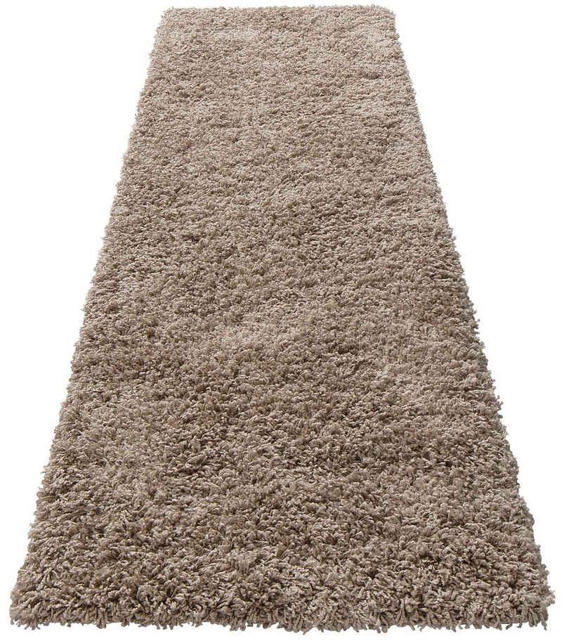 Hochflor-Läufer »Shaggy 30«, Home affaire, rechteckig, Höhe 30 mm, gewebt