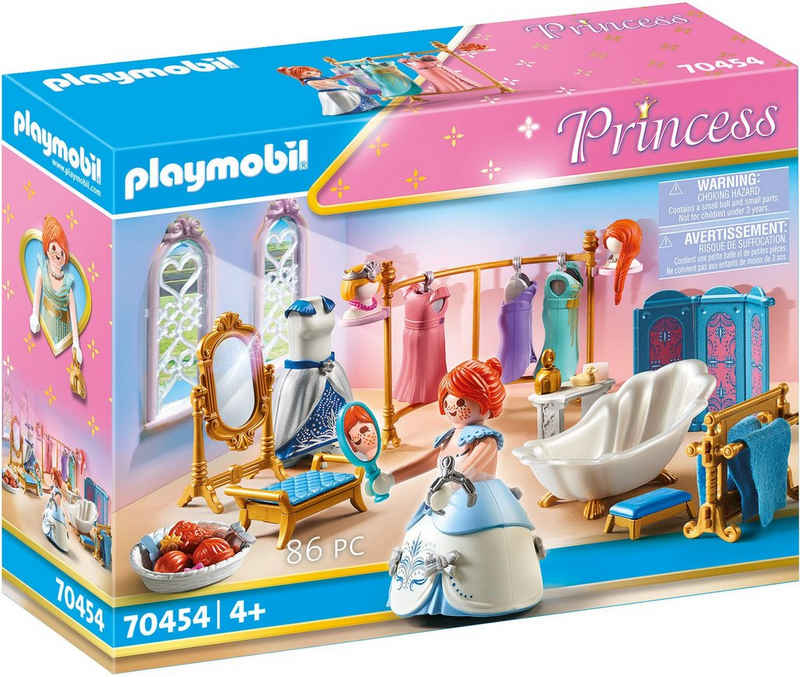Playmobil® Konstruktions-Spielset »Ankleidezimmer mit Badewanne (70454), Princess«, (86 St), Made in Germany