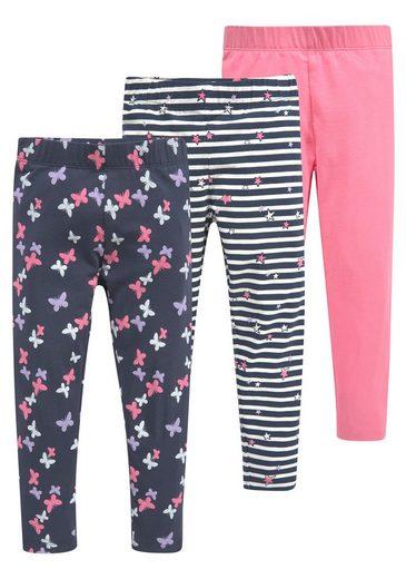 KIDSWORLD Leggings (Packung, 3er-Pack) mit unterschiedlichen Mustern und Farben