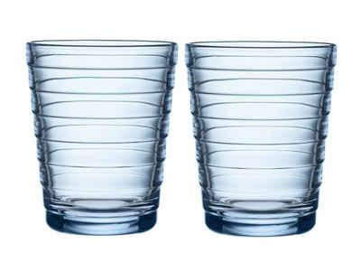 IITTALA Glas »iittala - Aino Aalto 2er Set Becher 22 cl, aqua«, Glas