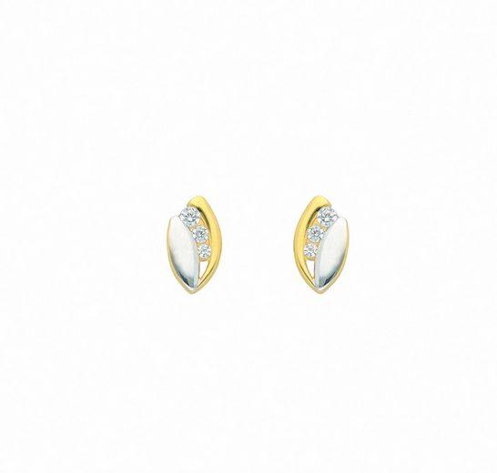Adelia´s Paar Ohrhänger »585 Gold Ohrringe / Ohrstecker mit Zirkonia«, Goldschmuck für Damen