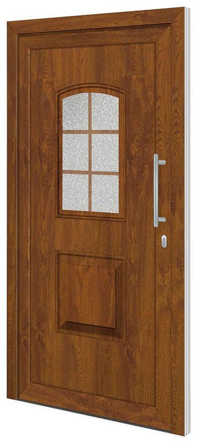 RORO Türen & Fenster Haustür »Otto 10«, BxH: 100x210 cm, golden oak / weiß, ohne Griff